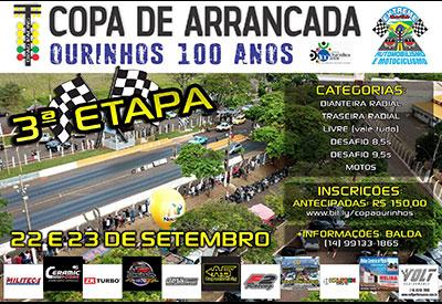 Flyer: 3ª Etapa - Copa Arrancada Ourinhos 100 anos