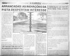 """Uma das primeiras matérias citando a nossa cronometragem. Jornal """"A Gazeta"""" do dia 02/05/2009"""