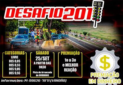 Flyer: Desafio 201m Ourinhos